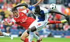 Marouane Chamakh and Christopher Samba tussle