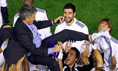 real madrid copa del rey 2011 photos. Jose Mourinho of Real Madrid