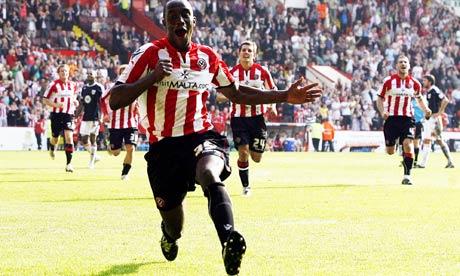 Jordan Slew scores the winner for Sheffield United