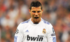 Cristiano Ronaldo shows his frustration during Real Madrid's 2-0 defeat to Barcelona