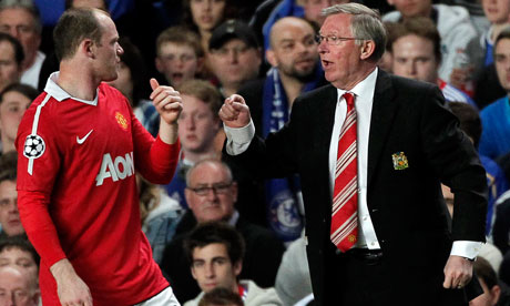 wayne rooney makeup. Wayne Rooney and Alex Ferguson