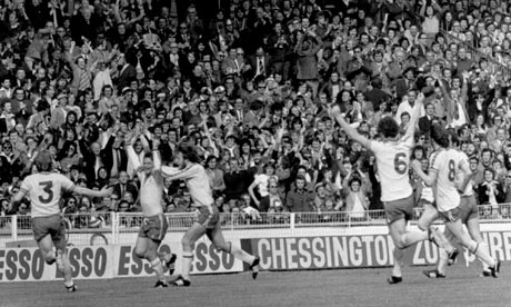Southampton's Bobby Stokes celebrates after scoring the winning goal in the 1976 FA Cup Final