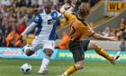 Blackburn's David Hoilett scores his side's third goal, against Wolves