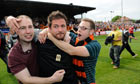 Kisses, alcopops and relief flow as Barnet live for another league day