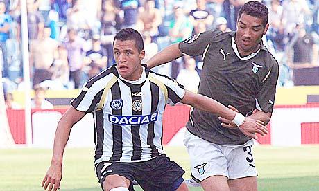 Udinese striker Alexis Sanchez