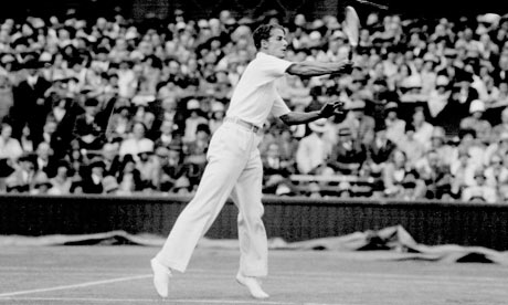 Bunny Austin in the 1938 men's final