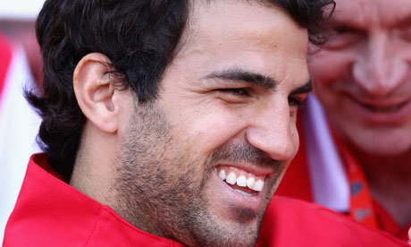 Cesc Fábregas trains with Arsenal and Theo Walcott returns to fitness