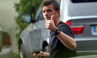 Joey Barton arrives at Newcastle's Longbenton training ground