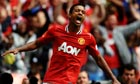 Nani scores twice as Manchester United overcome Manchester City