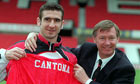 Eric Cantona and Alex Ferguson