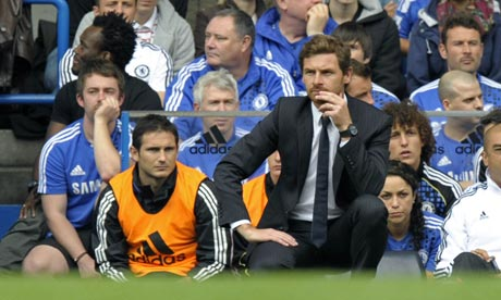 freank lampard on andre villas-boas bench
