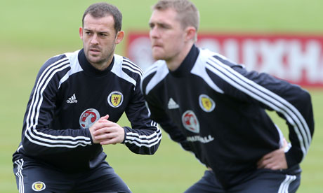 Steven Fletcher, left, and Darren Fletcher of Scotland