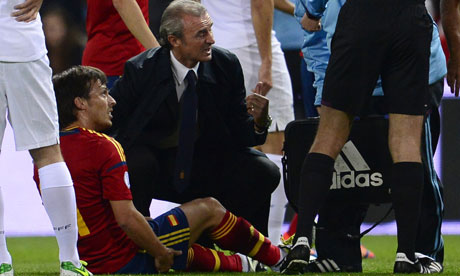David Silva of Manchester City had suffered a hamstring injury playing for Spain against France