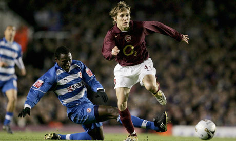 Reading v Arsenal League Cup fourth rounds of yore, here starring Ibrahima Sonko and Arturo Lupoli