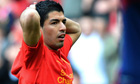 Luis Suarez reacts