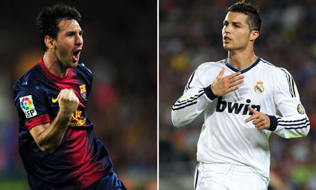 Barcelona S Lionel Messi And Real Madrid S Cristiano Ronaldo Celebrate