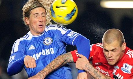 Fernando Torres and Martin Skrtel