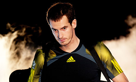 Andy Murray emerges from a cloud of dry ice