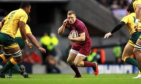 England's Chris Ashton was virtually invisible as Australia moved into the lead