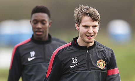 Manchester United's Nick Powell, right, could feature in the game against Galatasaray.