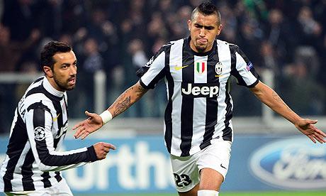 Juventus' midfielder of Chile Arturo Vid