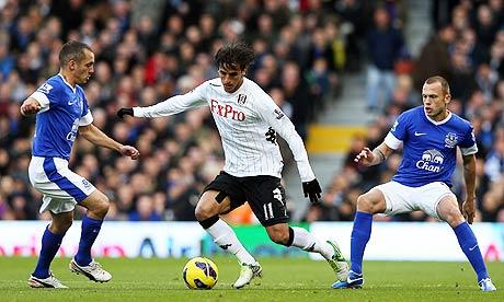 Fulham's golascorer Bryan Ruiz