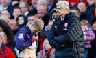 Jack Wilshere sent off, Manchester United v Arsenal