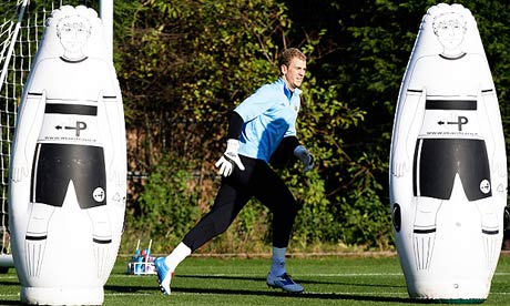 Joe Hart at training