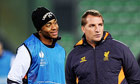 Liverpool's Brendan Rodgers and Raheem Sterling