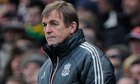 Kenny Dalglish looks dejected near the final whistle