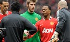 Luis Suárez refuses to shake the hand of Patrice Evra