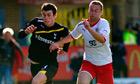 Gareth Bale in action at Stevenage