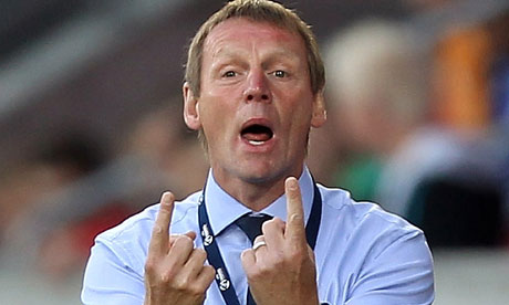 Stuart Pearce, England caretaker manager