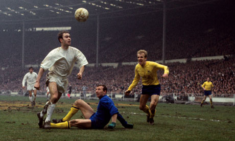 Swindon's Peter Noble scores in the 1969 League Cup Final