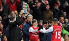 Andrey Arshavin coming on for Arsenal