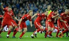 Liverpool celebrate their shoot-out win