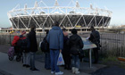 Fans may not be able to buy scarves at the Olympic Park
