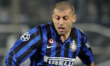 Will Walter Samuel soon be pulling faces like this one for Tottenham instead of Internazionale?