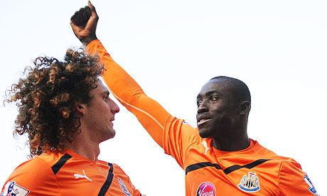 Newcastle's Papiss Cisse celebrates