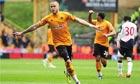 Wolverhampton Wanderers' Michael Kightly celebrates