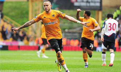 Wolverhampton Wanderers' Michael Kightly celebrates