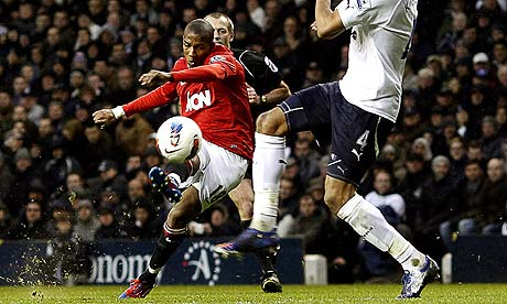 Ashley Young Manchester United Tottenham Hotspur