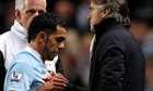Carlos Tevez Roberto Mancini Manchester City 