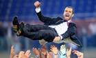 Pep Guardiola after Barcelona won the 2009 Champions League final against Manchester United