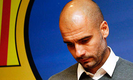 Barcelona's coach Pep Guardiola