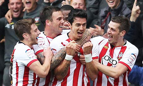 Southampton's José Fonte after his side's second goal against Coventry moved them close to promotion