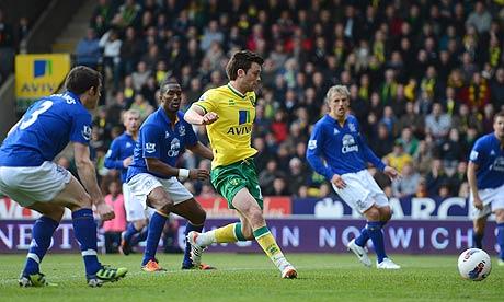 Jonny Howson Norwich City Everton