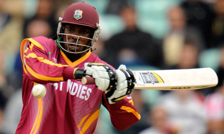 Chris Gayle in action for West Indies