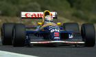 Nigel Mansell in his 1992 Williams-Renault