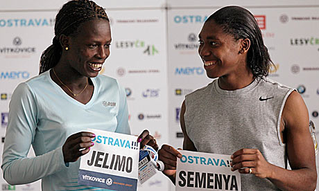 Caster Semenya tests London 2012 hopes against Olympic champion